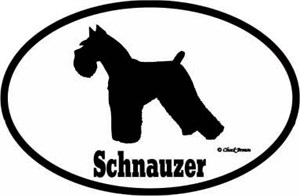 Schnauzer Bumper Sticker Euro