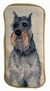 Schnauzer Eyeglass Case Cropped