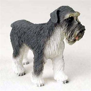 Schnauzer Figurine Gray Uncropped