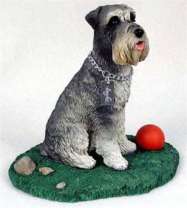 Schnauzer Figurine Gray Uncropped MyDog