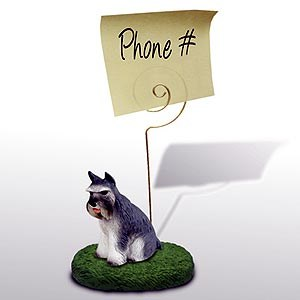 Schnauzer Note Holder (Gray)