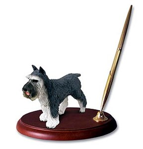 Schnauzer Pen Holder (Gray)