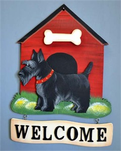 Scottish Terrier Welcome Sign