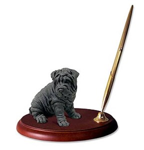 Shar Pei Pen Holder