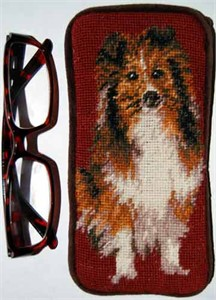 Shetland Sheepdog Eyeglass Case