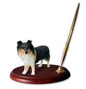 Shetland Sheepdog Pen Holder (Tricolor)