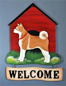 Shiba Inu Welcome Sign