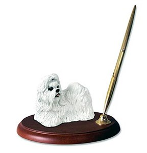 Shih Tzu Pen Holder (White)