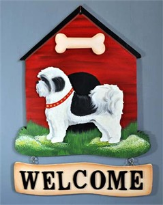 Shih Tzu Welcome Sign