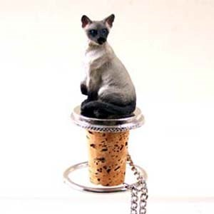 Siamese Cat Bottle Stopper