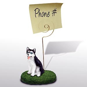 Siberian Husky Note Holder (Blue Eyed)