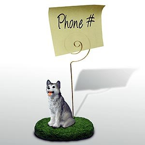 Siberian Husky Note Holder