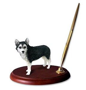Siberian Husky Pen Holder (Brown Eyed)