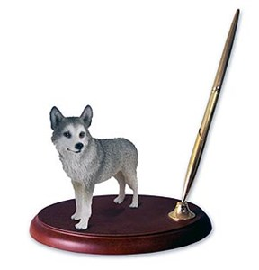 Siberian Husky Pen Holder