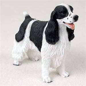 Springer Spaniel Figurine Black