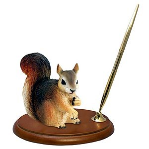 Squirrel Pen Holder (Red)