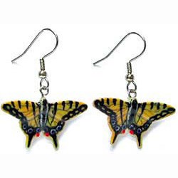 Tiger Swallow Tail Butterfly Earrings
