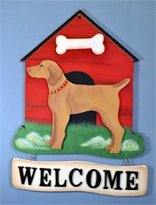 Vizsla Welcome Sign