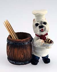 West Highland Terrier Toothpick Holder