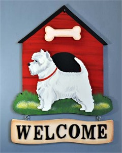 West Highland Terrier Welcome Sign