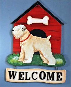 Wheaten Terrier Welcome Sign