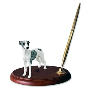 Whippet Pen Holder (Gray & White)