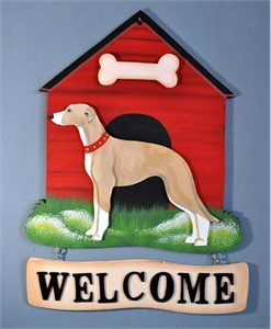 Whippet Welcome Sign