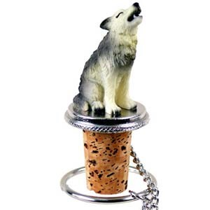 Wolf Bottle Stopper