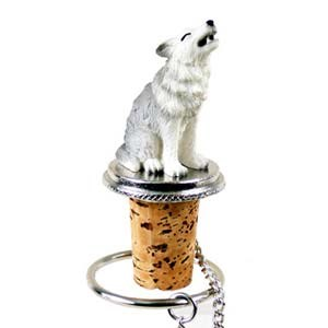 Wolf Bottle Stopper (Gray)